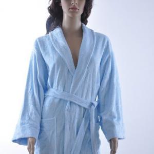 竹纤维女士割绒浴袍 家居服批发 安吉竹纤维厂家