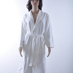 竹纤维割绒女士浴袍 成人浴袍