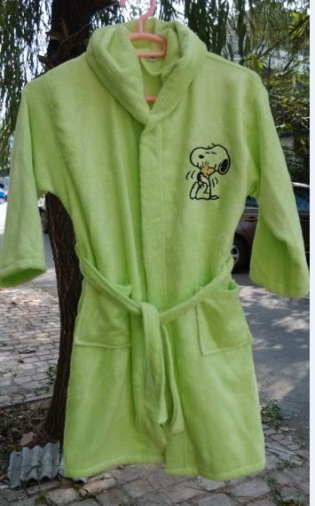 竹纤维儿童浴袍 青少年浴袍 卡通图案浴袍批发