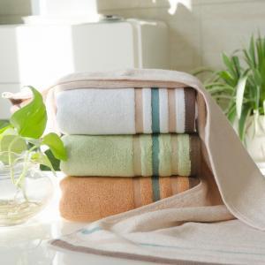 竹纤维彩条毛巾 缎档毛巾 竹纤维厂家