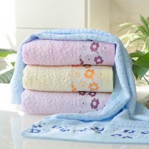 竹纤维毛巾 碎花毛巾 加厚吸水毛巾批发