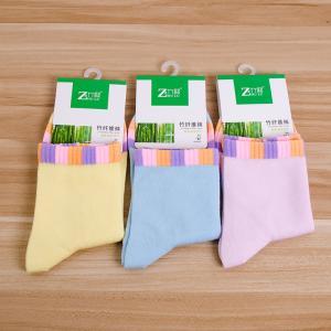 时尚简约女袜 竹纤维女士袜子 休闲袜