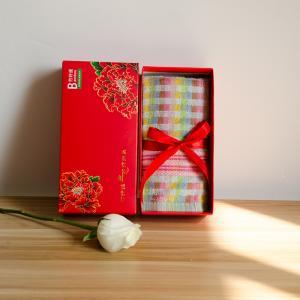 单条毛巾装礼盒 竹纤维礼盒