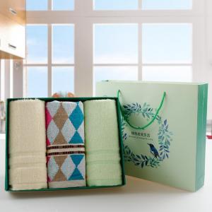 家庭装竹纤维毛巾礼盒 毛巾批发
