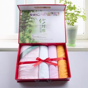 竹纤维新年礼品 毛巾浴巾礼品套装批发