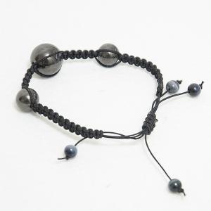 竹炭 日韩流行饰品 防辐射备长炭珠手链 圆珠手链