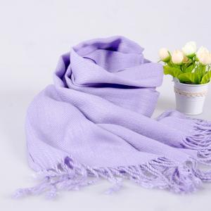 竹纤维女士素色提花围巾 全竹白边围巾披肩披巾两用保暖批发