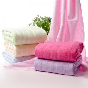 竹纤维缎档浴巾批发 竹纤维素色浴巾