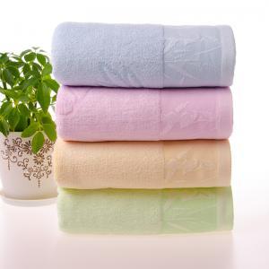 竹纤维提花浴巾 竹叶提花浴巾 安吉竹纤维